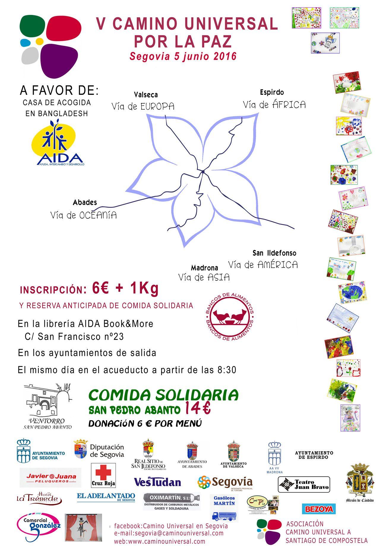 V Camino Universal por la Paz en Segovia