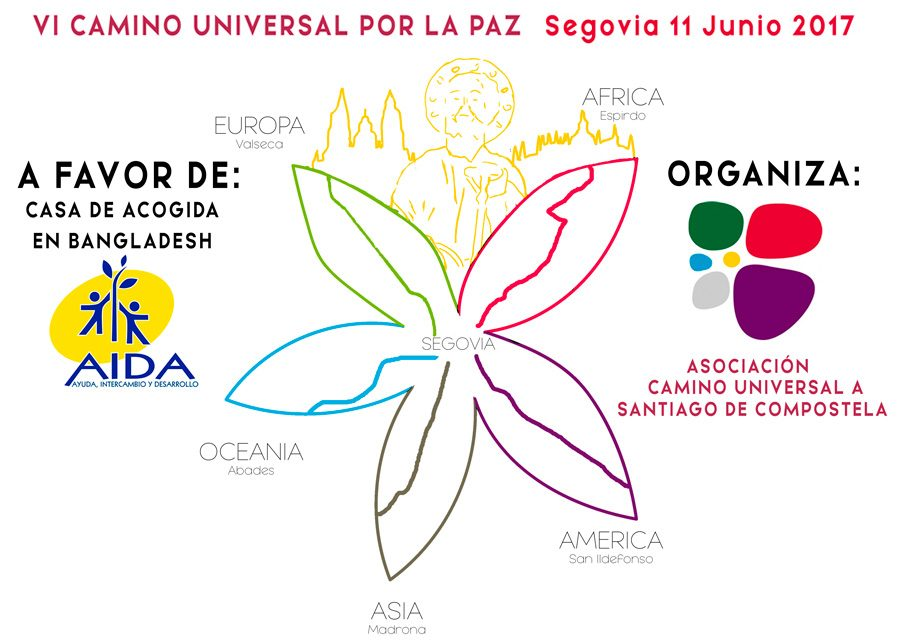 Segovia. VI Camino Universal por la Paz